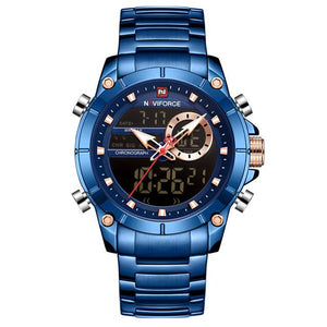 New NAVIFORCE Top Luxury Brand Men Watch Quartz Male Clock Design Sport Watch Waterproof Stainless Steel Wristwatch Reloj Hombre Bahria Stores by Bahria Stores in [product_type]