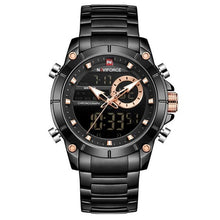 Load image into Gallery viewer, New NAVIFORCE Top Luxury Brand Men Watch Quartz Male Clock Design Sport Watch Waterproof Stainless Steel Wristwatch Reloj Hombre Bahria Stores by Bahria Stores in [product_type]