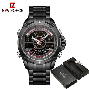 NAVIFORCE Men's Fashion Sport Watches Men Quartz Analog Date Clock Man Leather Military Waterproof Watch Relogio Masculino 2018  (18) Bahria Stores by Bahria Stores in Watches