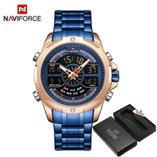 Load image into Gallery viewer, NAVIFORCE Men's Fashion Sport Watches Men Quartz Analog Date Clock Man Leather Military Waterproof Watch Relogio Masculino 2018  (18) Bahria Stores by Bahria Stores in Watches