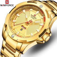 Load image into Gallery viewer, New Naviforce Mens Watches Gold Top Brand Luxury Watches Men Stainless Steel Quartz Waterproof Men Wristwatch Relogio Masculino Bahria Stores by Bahria Stores in [product_type]