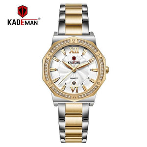 New Sweet Ladies Wristwatch Full Steel Bracelet Luxury Crystal Women Watches TOP Quality Fashion Brand Design Female Dress Watch Bahria Stores by Bahria Stores in [product_type]