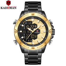 Load image into Gallery viewer, Original Luxury Men Watch LED Dual Movement Sports Watch 3ATM Full Steel Bracelet Wristwatch TOP Brand KADEMAN Relogio Masculino Bahria Stores by Bahria Stores in [product_type]