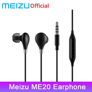 Original Meizu ME20 Earphone In-Ear Earphones With Microphone Support Remote Music Sport Earphone Bass High Quality For Mobile