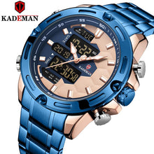Load image into Gallery viewer, Original Soccer Element Luxury Mens Watches TOP Brand Dual Movement Sport Watch KADEMAN Full Steel 3ATM Casual Male Wristwatches Bahria Stores by Bahria Stores in [product_type]