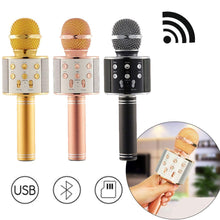 Load image into Gallery viewer, Professional Microphone Bluetooth Wireless karaoke Mic USB KTV Player Portable Handheld Karaoke Singing Recorder Studio WS 858