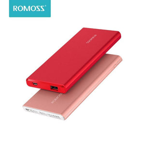 ROMOSS GT3 Power Bank 5000mAh External Battery Charger Li-polymer Portable Charger Fast Charging For iPhoneX iPhone 8plus Table Bahria Stores by Romoss in Power Bank