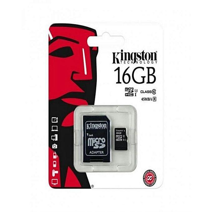 Kingston 16GB Micro SDHC Memory Card Bahria Stores by Kingston in Memory Card