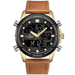 Top Luxury Brand NAVIFORCE Watches Men Fashion Sport Watches Men's Digital Quartz Clock Leather Military Waterproof Wrist Watch Bahria Stores by Bahria Stores in Watches
