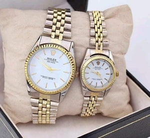ROLEX Stainless Steel Wrist Watch Pair for Couples (Replica) Bahria Stores by AnzorStore in Wrist Watch