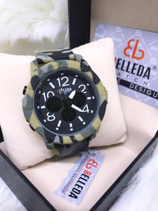 Original BELLEDA Limited Stock Camouflage Hybrid Military Wrist Watch Bahria Stores by AnzorStore in Wrist Watch