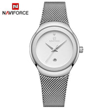 Load image into Gallery viewer, Women Watches NAVIFORCE Top Luxury Brand Lady Fashion Casual Simple Steel Mesh Strap Wristwatch Gift for Girls Relogio Feminino Bahria Stores by Bahria Stores in [product_type]