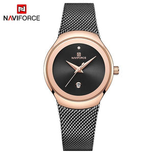 Women Watches NAVIFORCE Top Luxury Brand Lady Fashion Casual Simple Steel Mesh Strap Wristwatch Gift for Girls Relogio Feminino Bahria Stores by Bahria Stores in [product_type]