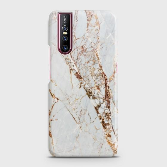 VIVO V15 PRO White & Gold Marble Case Bahria Stores by Bahria Stores in [product_type]