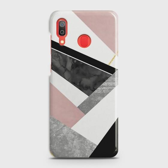SAMSUNG GALAXY A20 Geometric Luxe Marble Case Bahria Stores by Bahria Stores in [product_type]