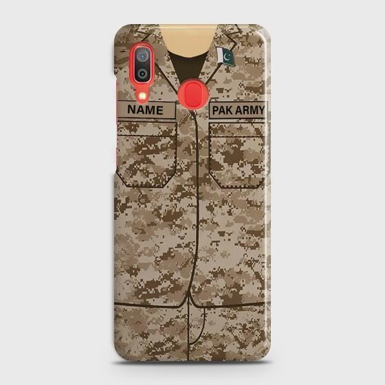 SAMSUNG GALAXY A20 Army Costume with custom name Case Bahria Stores by Bahria Stores in [product_type]