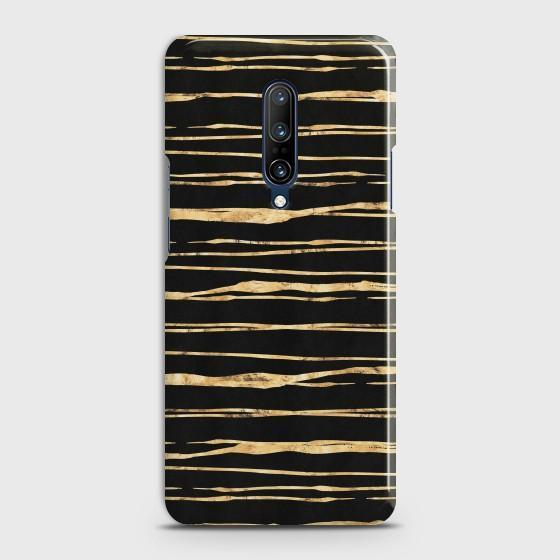 ONEPLUS 7 PRO Golden Black Strips Case Bahria Stores by CaseFactory in Customized Case