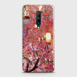 ONEPLUS 7 PRO Pink blossoms Lanterns Case Bahria Stores by CaseFactory in Customized Case