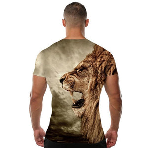 King of forest digital graphic half sleeves round neck t-shirt for men Bahria Stores by Aybeez in Printed T-Shirts