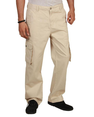 Light Stone Wrinkle Free Cotton Cargo Trousers Bahria Stores by Fashion Cafe in Trousers & Pants