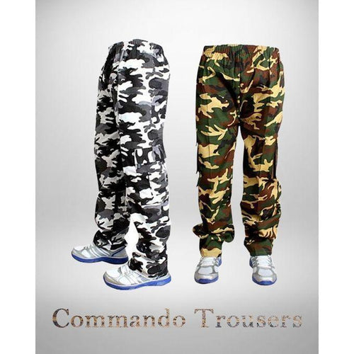 Pack Of 2 Commando Cotton trouser For Men Bahria Stores by Aybeez in Trousers & Pants