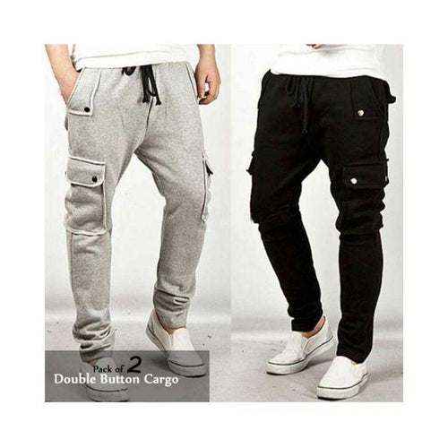 Pack Of 2 AYBEEZ Trousers For Men Bahria Stores by Aybeez in Trousers & Pants