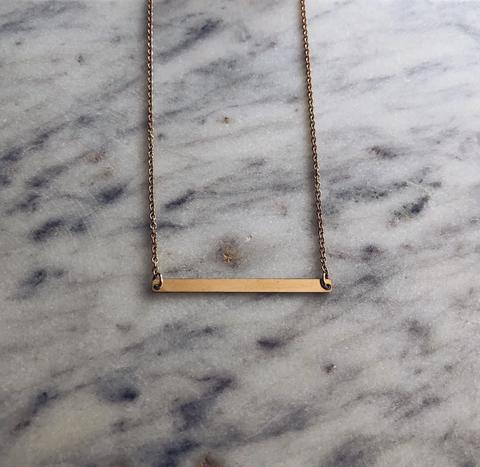 Slim Bar Necklace