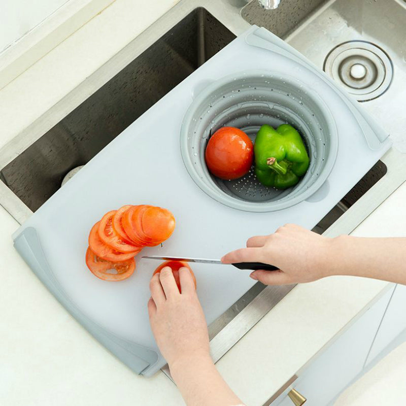 3 in 1 Multi-Function Collapsible Colander Chopping Board