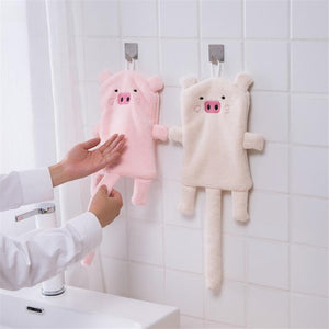 Cute Pig Soft Towel with Hand