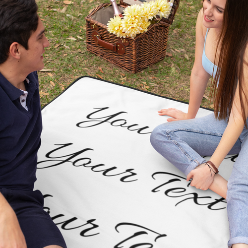 Personalized Woven Blanket - 50x60 for Mom with Models