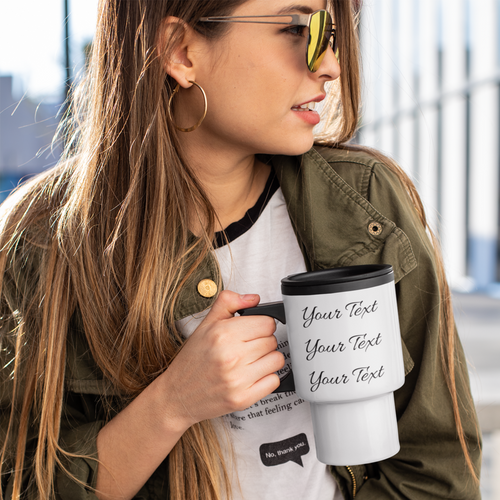 Personalized Travel Mug for Mom with Model