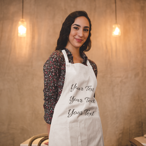 White Personalized Apron for Mom - Gift for Mom