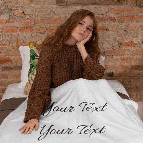 Personalized Premium Sherpa Blanket - 50x60 for Mom with Model