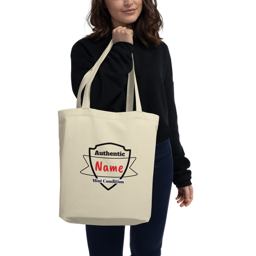 Personalized Eco-friendly Tote Shopping Bag for Mom with Model