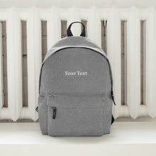 Load image into Gallery viewer, Personalized Embroidered Backpack for Him by GiftAFeeling