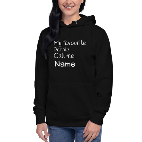 Personalized Hoodie for Mom Black Color