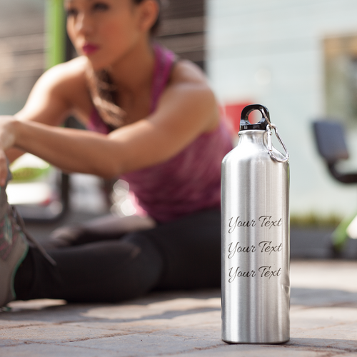 Personalized Stainless Steel Water Bottle for Mom with Model