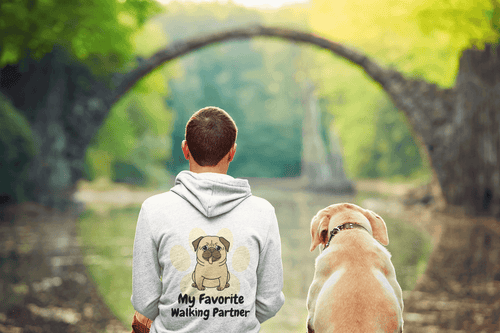 Guy with personalized dog hoodie