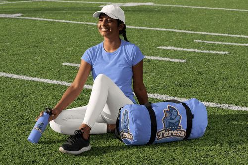 Tennis player gifted personalized tennis kit from her mom