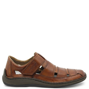 Reiker 05278 Mens Brown Leather Sandal