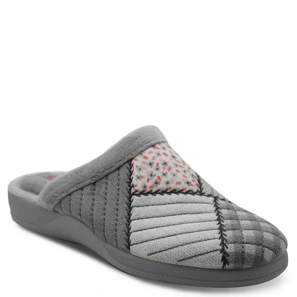 comfortable womens grey slipper slide