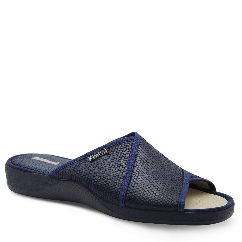 Devalverde 164 Womens Navy Slides