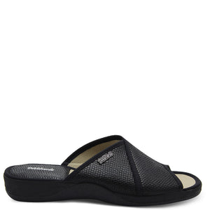 Devalverde 164 Womens Black Slides