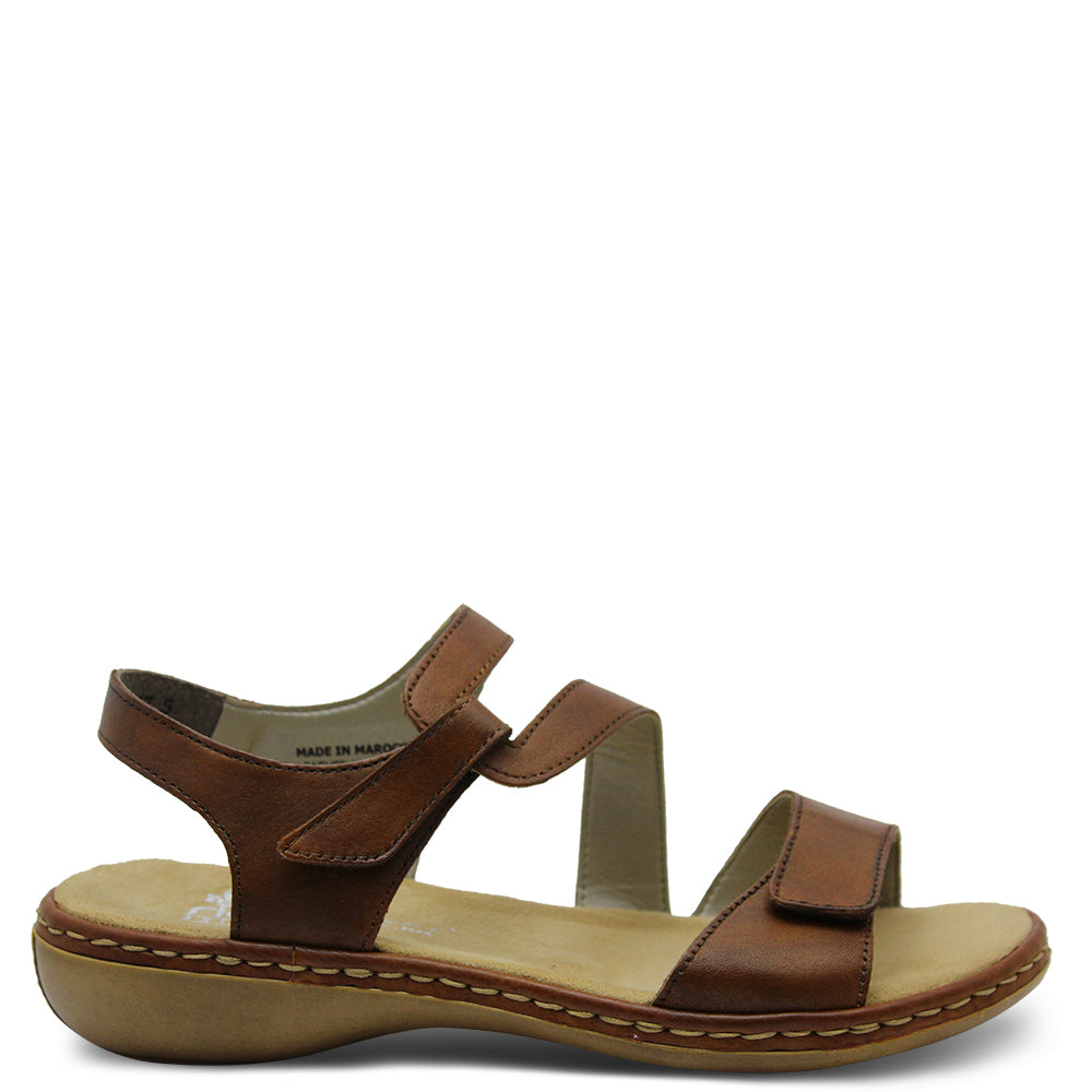 Reiker 659C7 Brown Womens Sandal