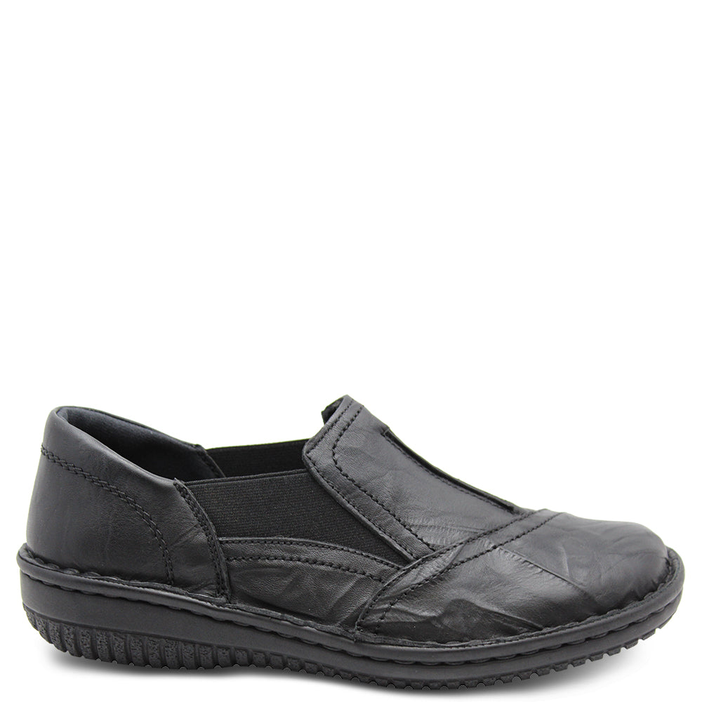 Cabello 761-27  black women's casual flat court shoe