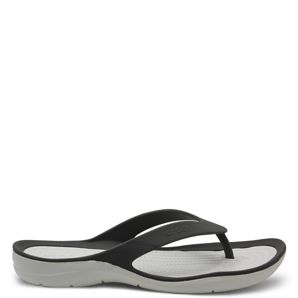 Crocs Swiftwater Womens Smoke/white thong