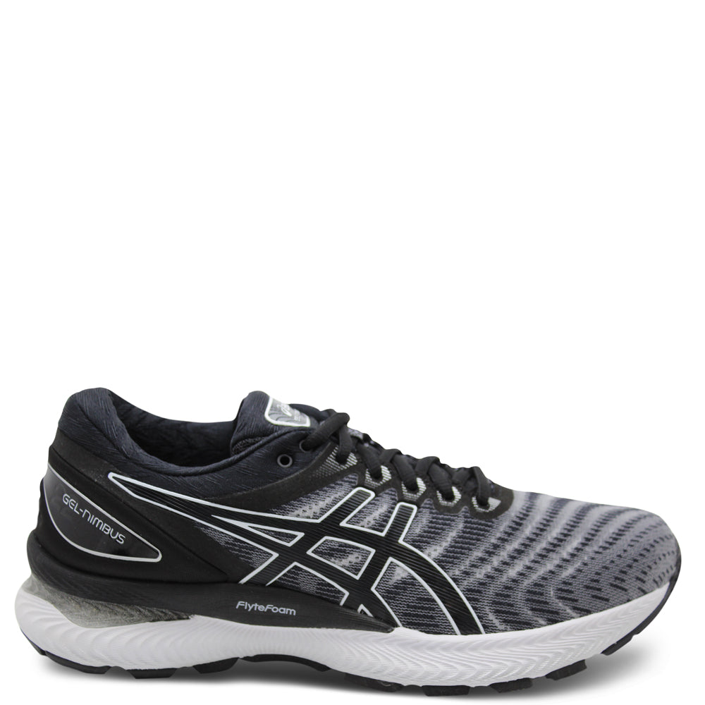 Asics Gel Nimbus 22 Mens 2E White/Black