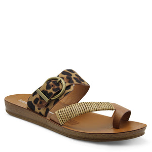 Los Cabos Bria Leopard womens flat Thong
