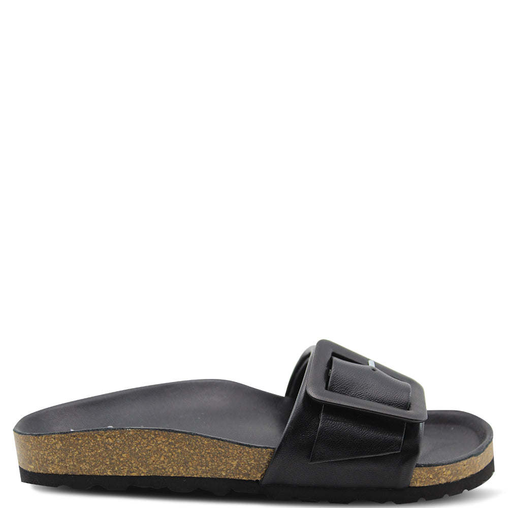 Eos Ginger Black Womens Slide