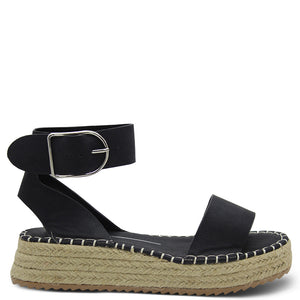 Los Cabos Viva Black Womens Wedge Sandal